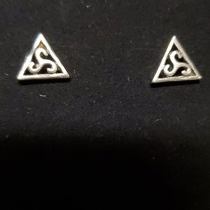 Vintage sterling silver Triskle earings